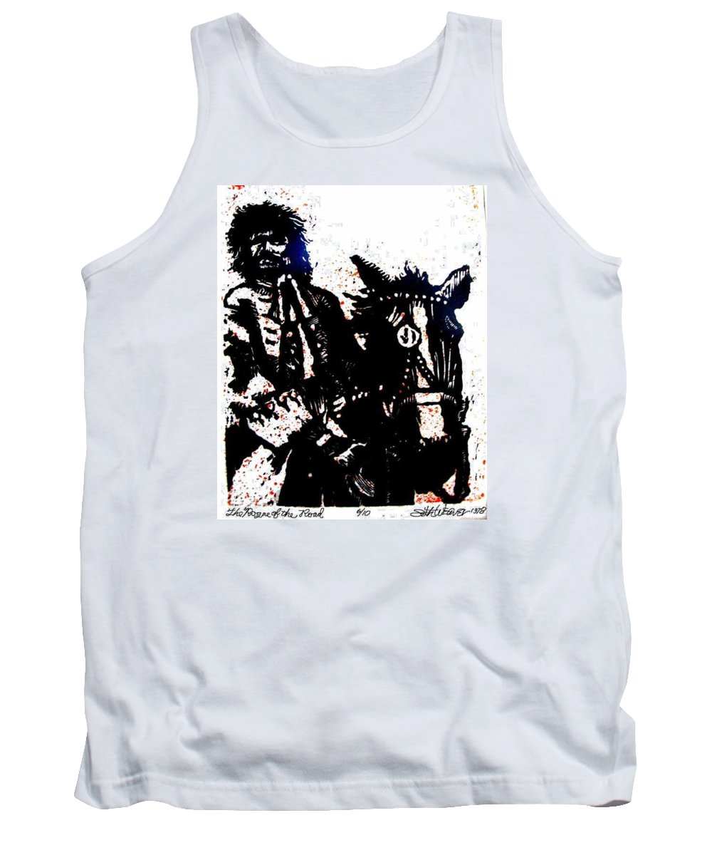 English Highwayman Tank Top featuring the mixed media Rogue Of The Road by Seth Weaver