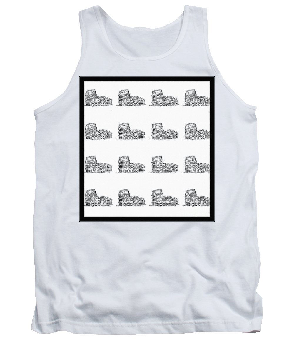 Roman Colosseum Tank Top featuring the photograph Roman Colosseum by Barbara Griffin