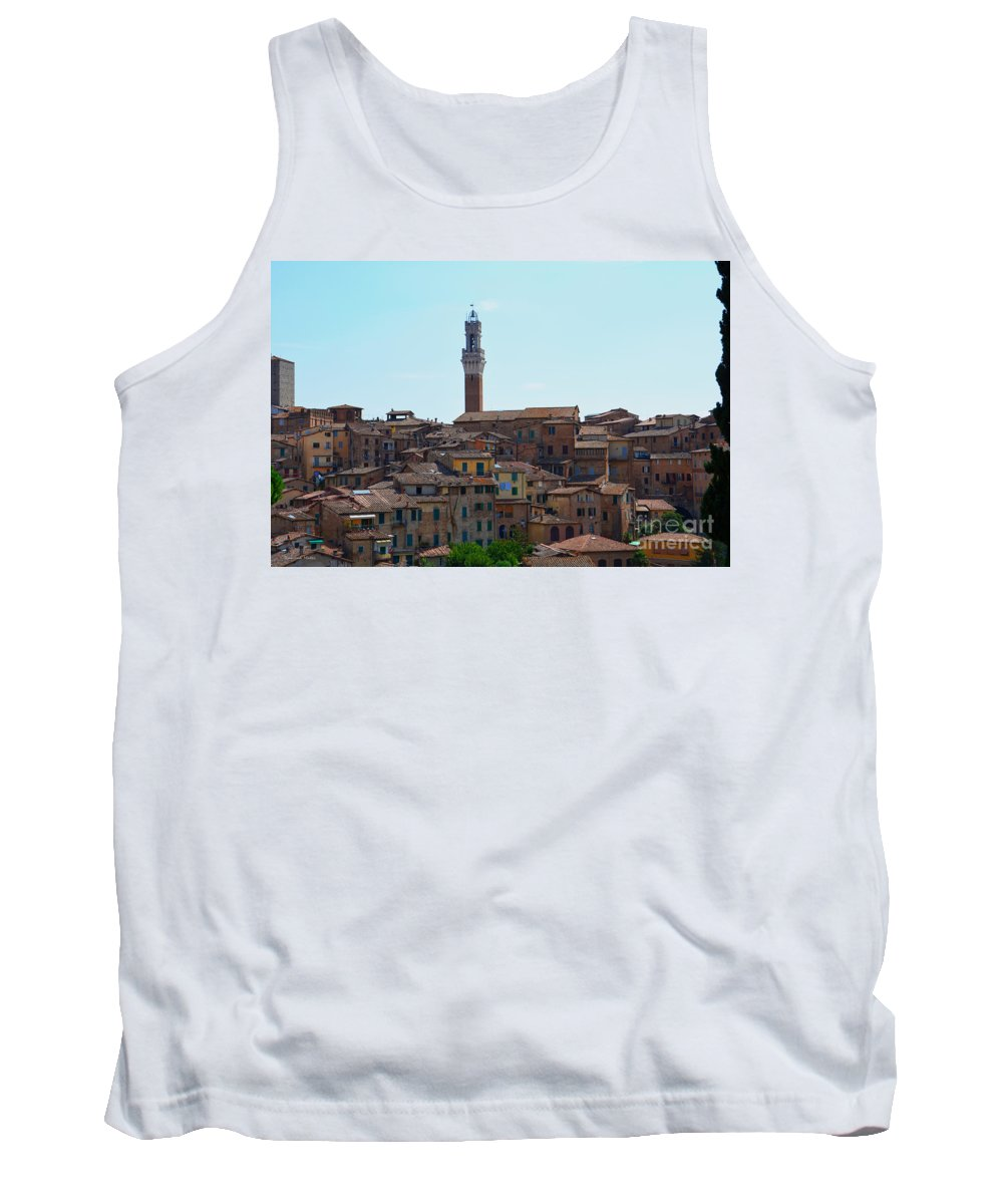 Siena Tank Top featuring the photograph Roofs Of Siena by Ramona Matei