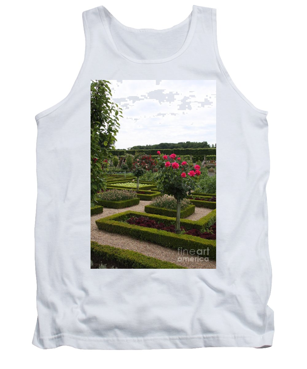 Roses Tank Top featuring the photograph Roses And Cabbage - Chateau Villandry by Christiane Schulze Art And Photography