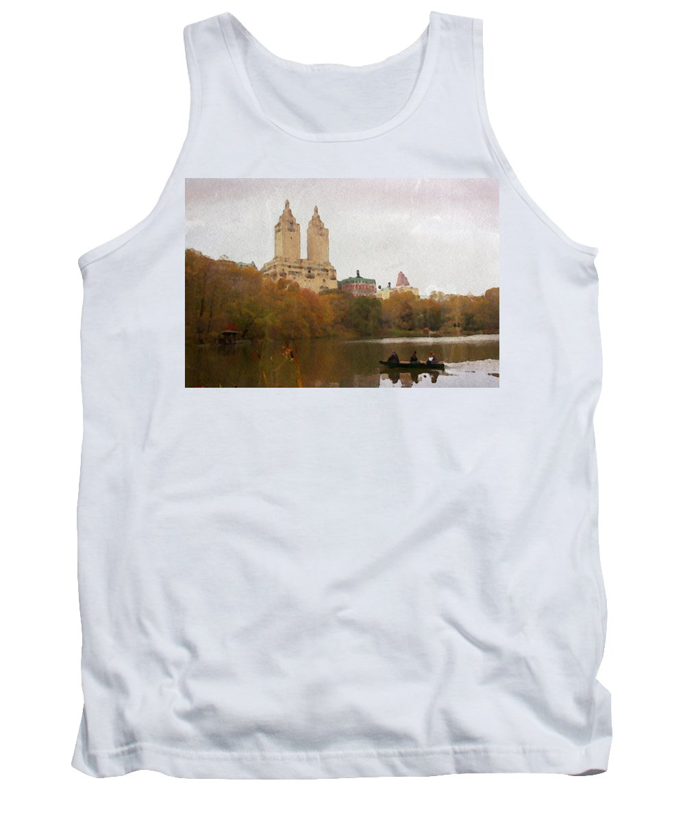Central Park Tank Top featuring the photograph Rowers In Central Park by Alice Gipson