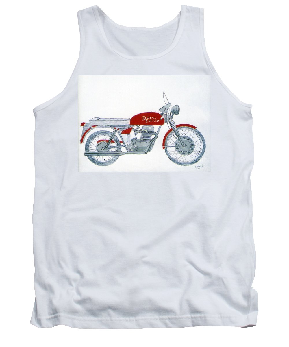 Kick Tank Top featuring the drawing Royal Oil by Stephen Brooks