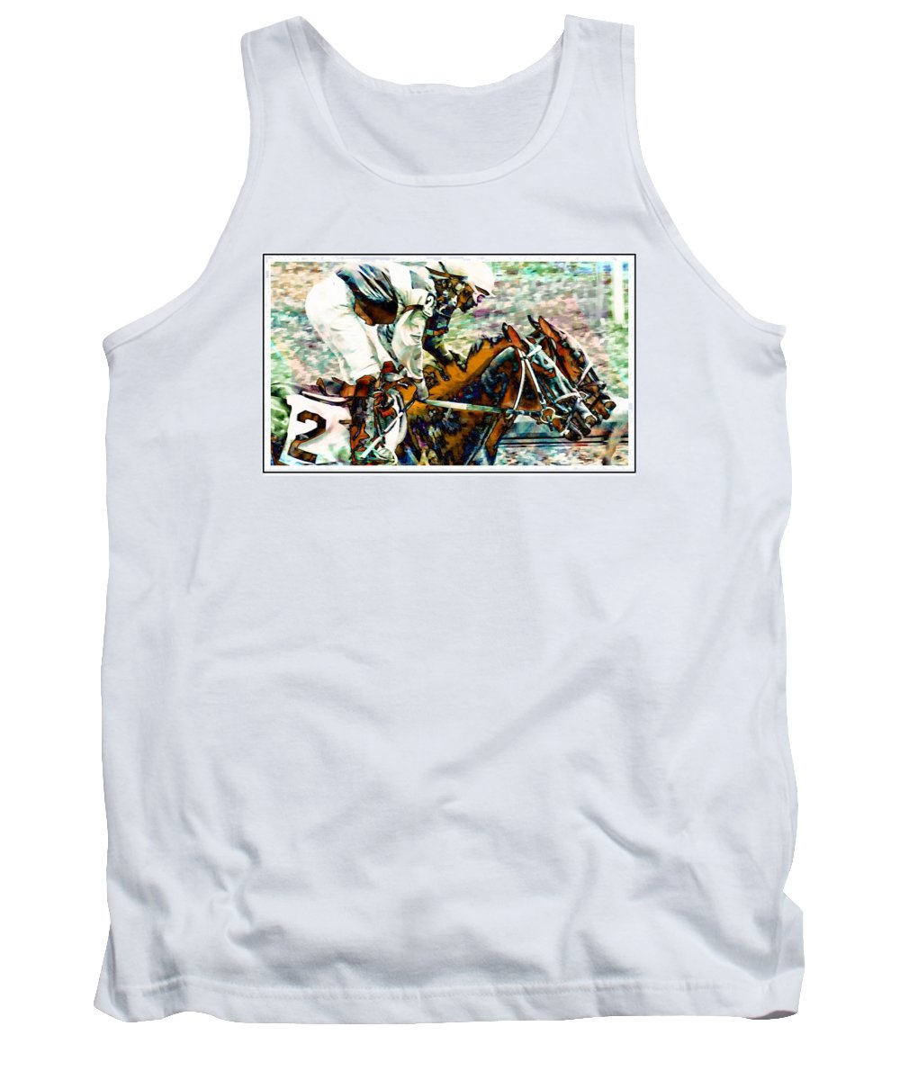Horseracing Tank Top featuring the photograph Running Chrome by Alice Gipson
