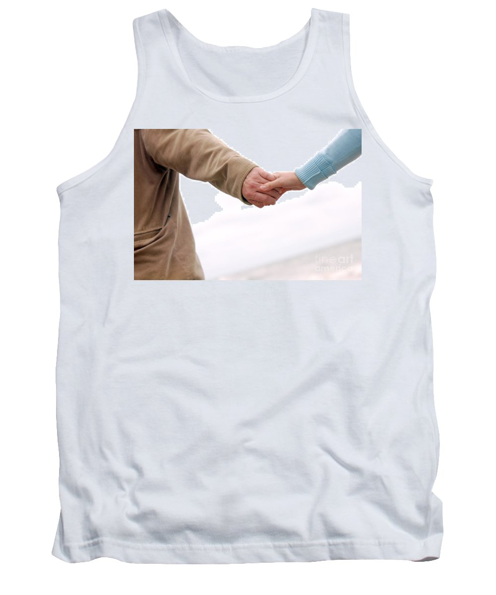 Adoration Tank Top featuring the photograph Running Hand-in-hand by Michal Bednarek