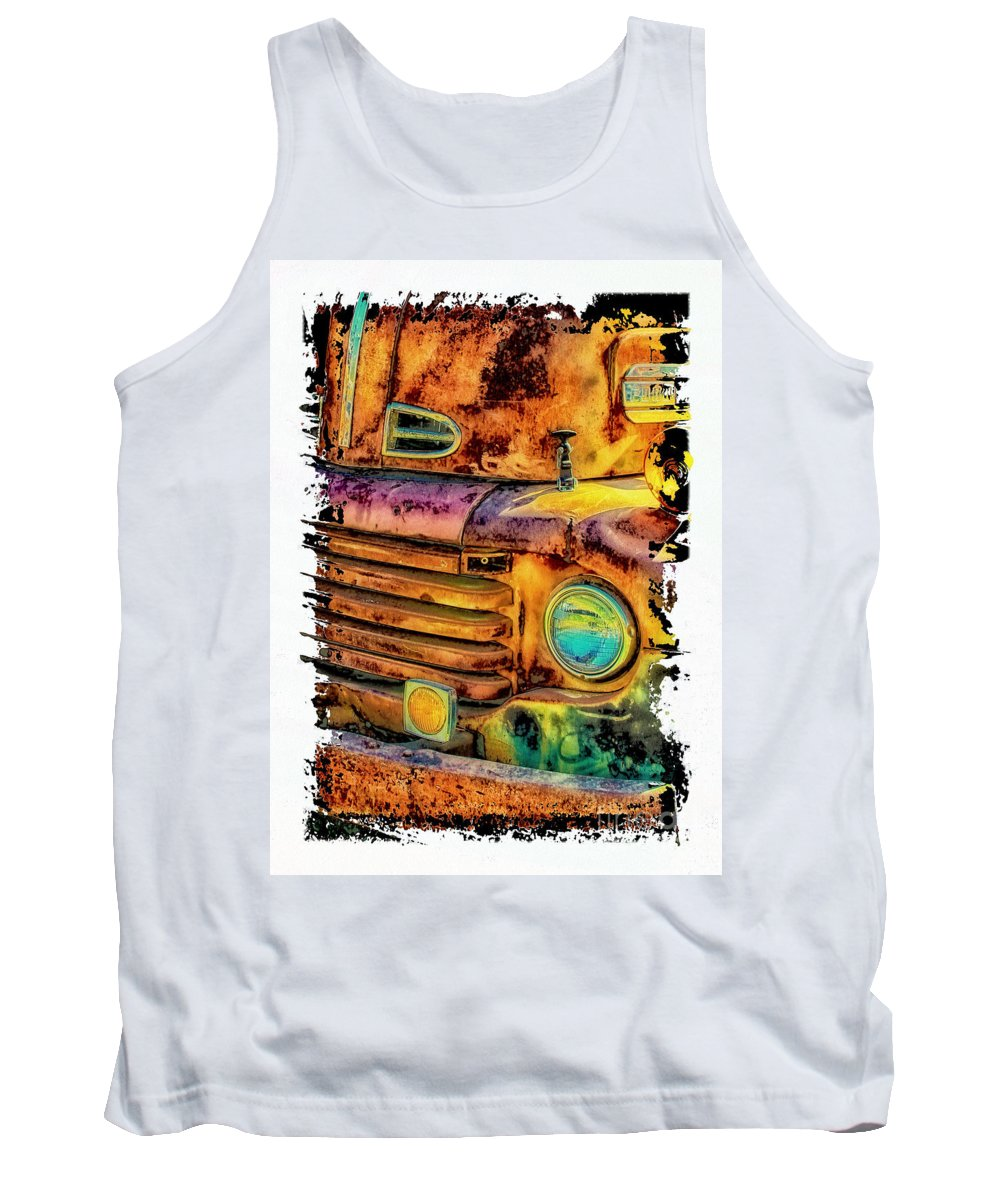 Rusty Old Truck Tank Top featuring the photograph Rusty Old Truck by Warrena J Barnerd