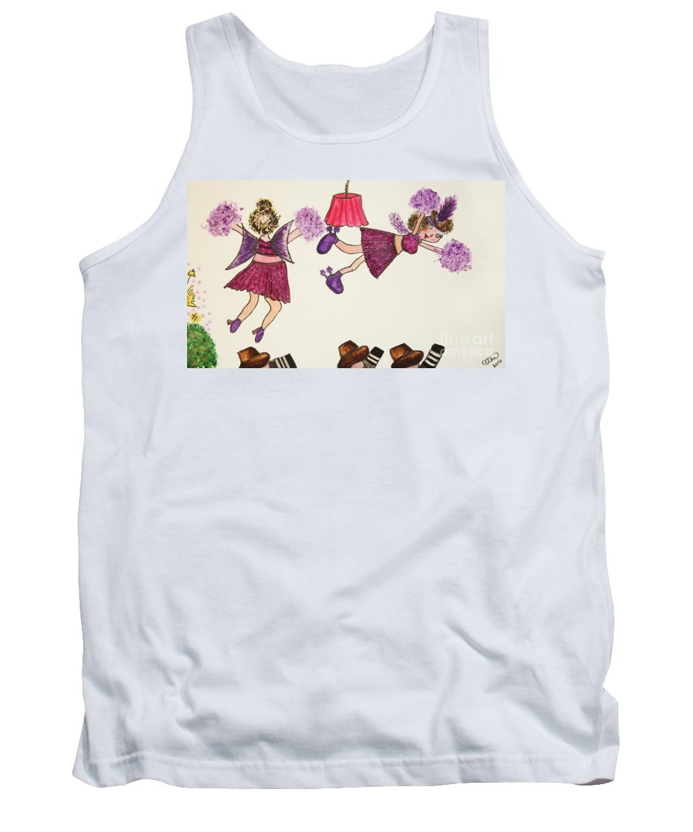 Purple Tutu Tank Top featuring the photograph Sales Fairy Dancer 5 by Terri Waters