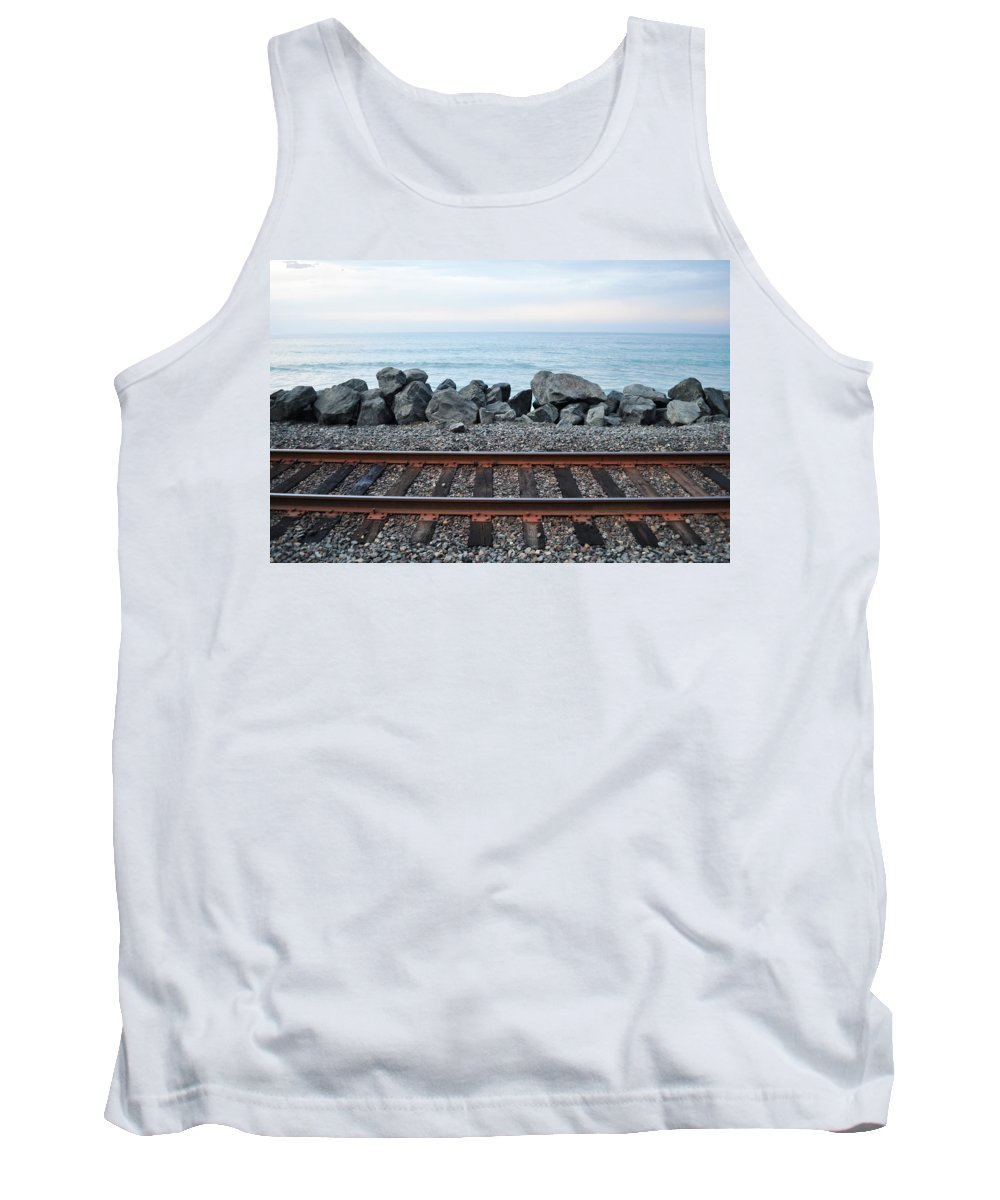 San Clemente Tank Top featuring the photograph San Clemente Coast Railroad by Kyle Hanson