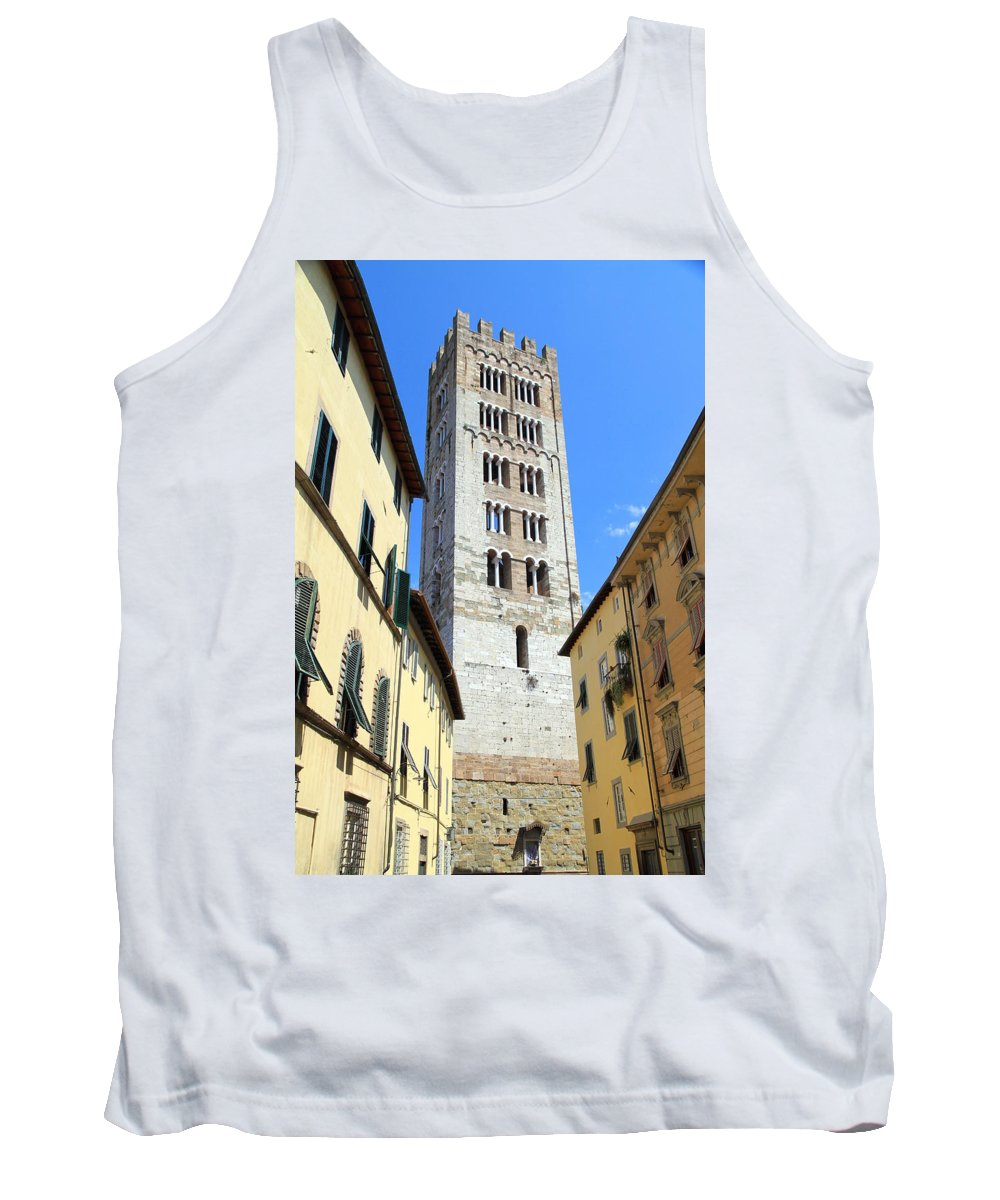 Lucca Tank Top featuring the photograph San Frediano Tower by Valentino Visentini