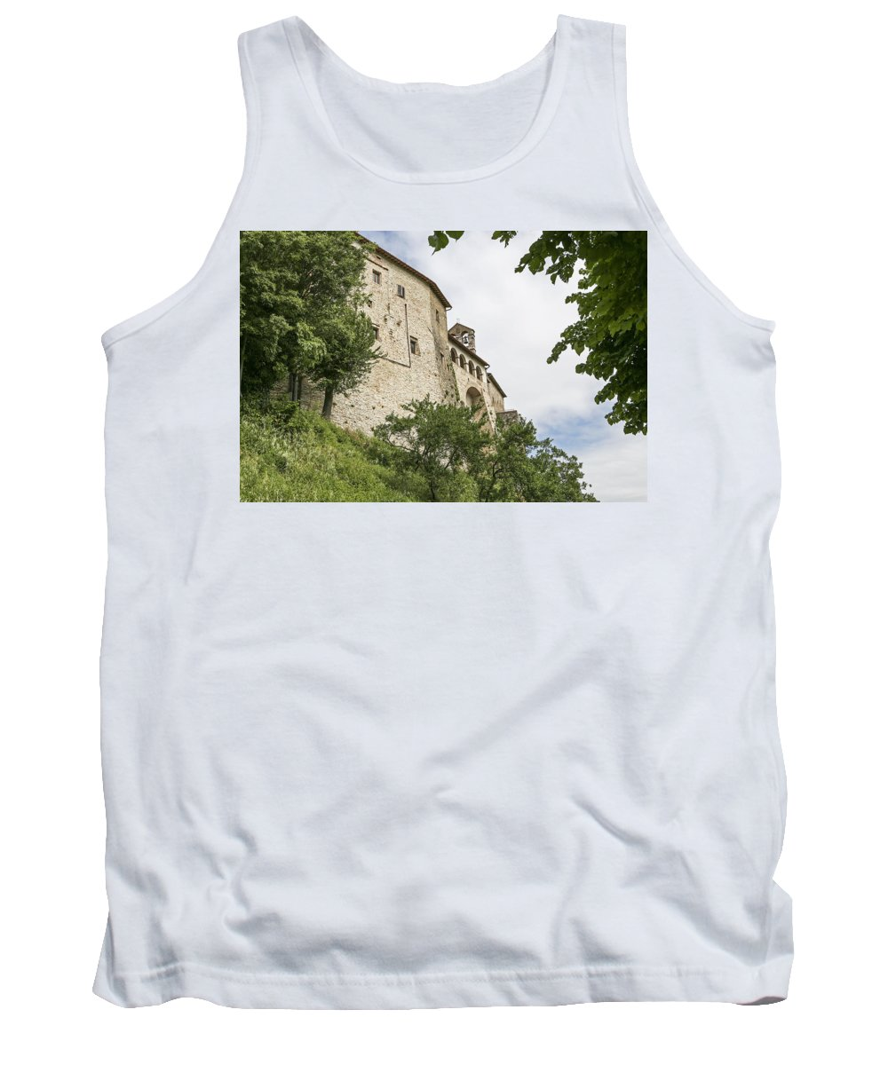 Italy 2014 Tank Top featuring the photograph San Gemini Walls 2 by Eric Swan