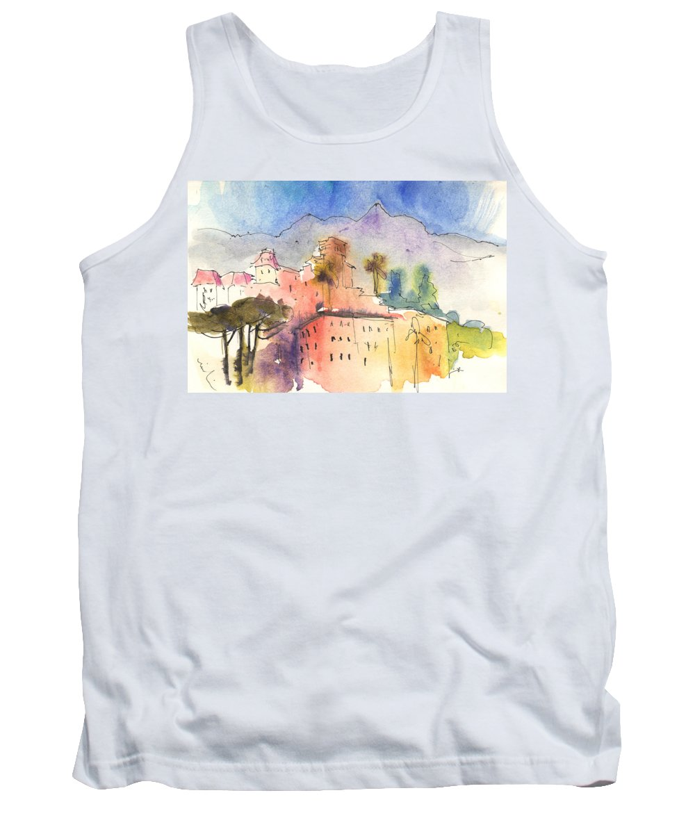 Italy Tank Top featuring the painting Santa Margherita In Italy 01 by Miki De Goodaboom