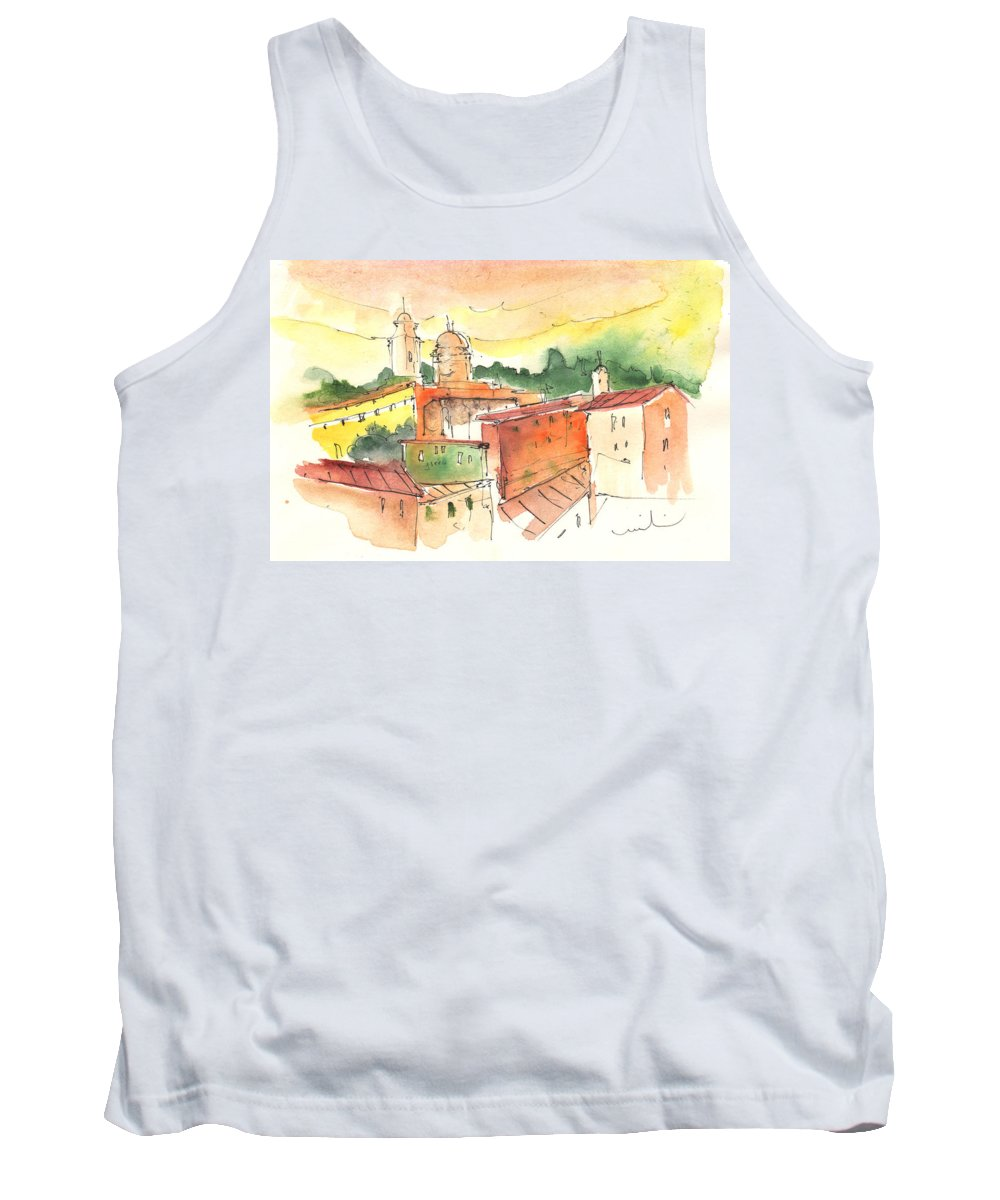 Italy Tank Top featuring the painting Santa Margherita In Italy 04 by Miki De Goodaboom