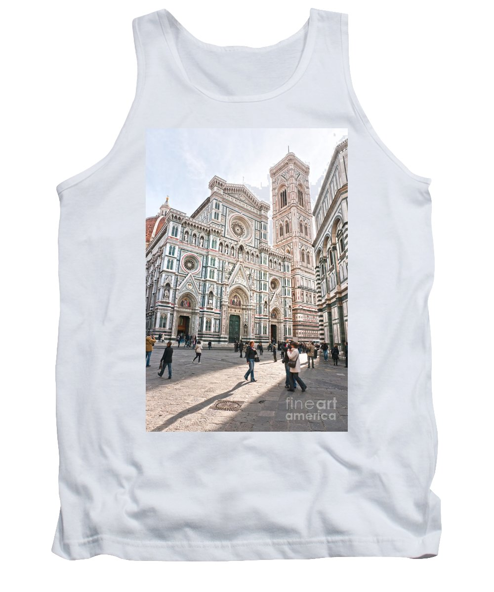 Arch Tank Top featuring the photograph Santa Maria Del Fiore - Florence by Luciano Mortula