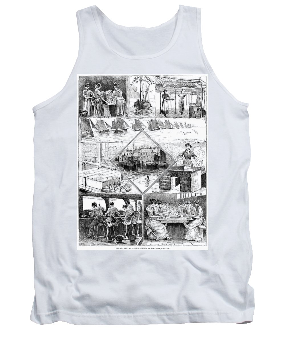 1880 Tank Top featuring the painting Sardine Fishery, 1880 by Granger