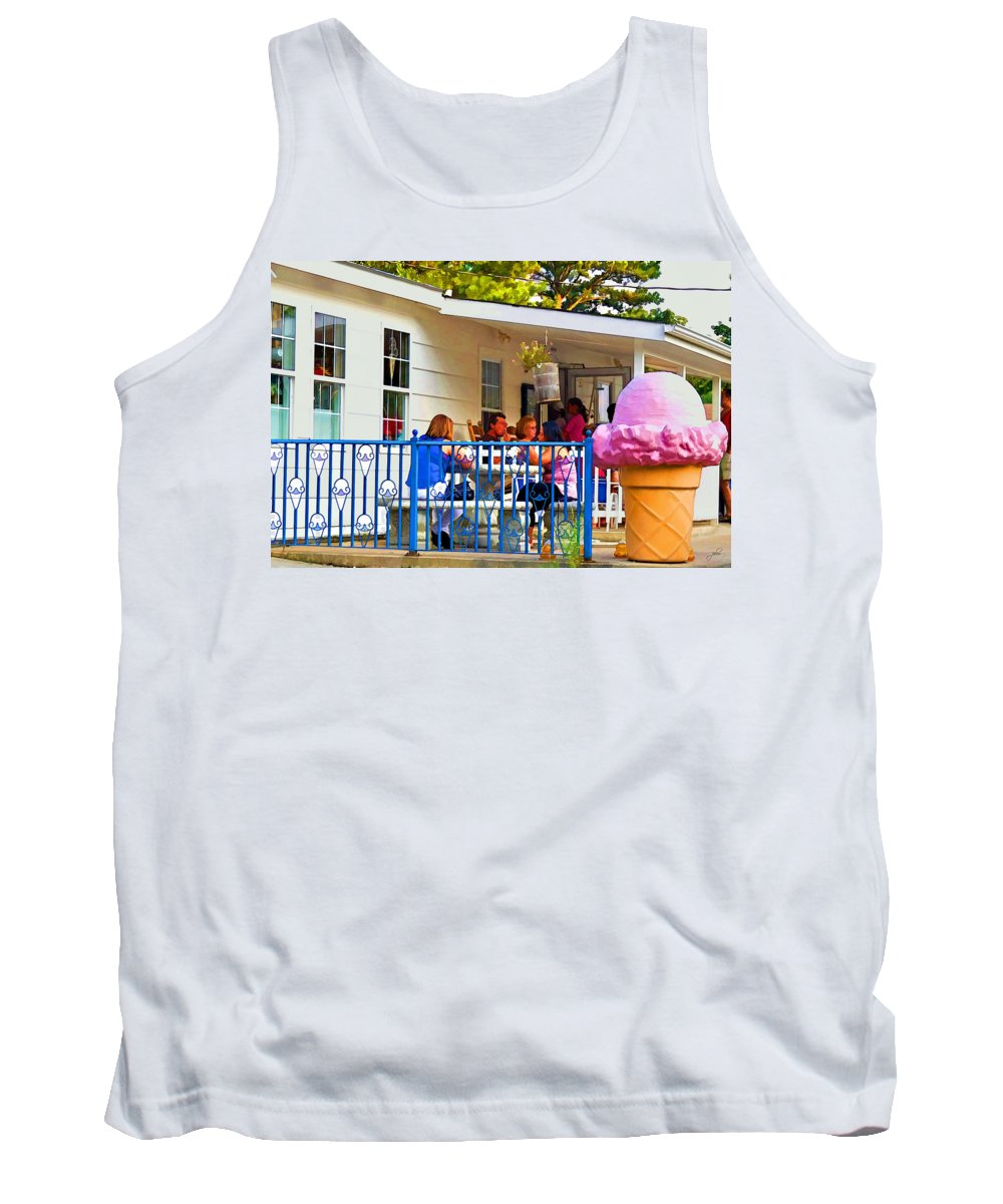 Outdoors Tank Top featuring the photograph Saturday Night At Sunny Sky's by Paulette B Wright