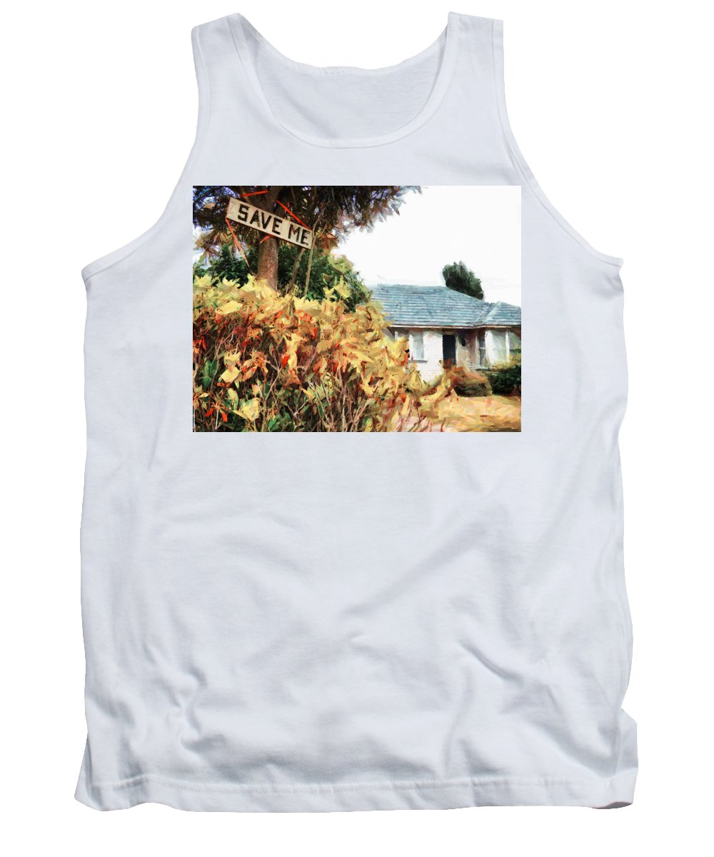 Earthquake Tank Top featuring the digital art Save Me by Steve Taylor