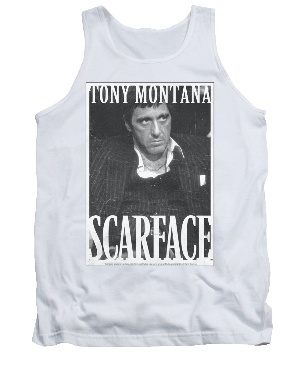 Scareface Tank Top featuring the digital art Scarface - Business Face by Brand A