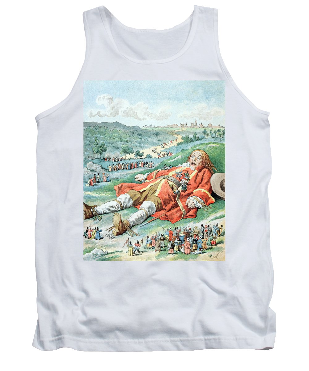 'gulliver's Travels' Tank Top featuring the painting Scene From Gullivers Travels by Frederic Lix