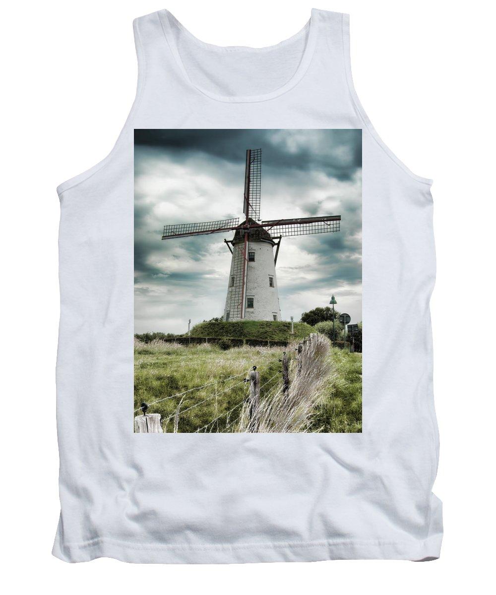 Damme Windmill Tank Top featuring the photograph Schellemolen Windmill by Phyllis Taylor