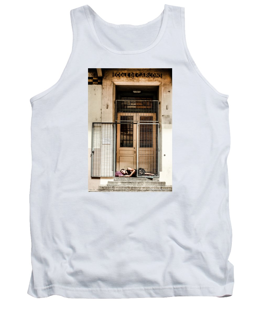 School Tank Top featuring the photograph School Closure by Stwayne Keubrick