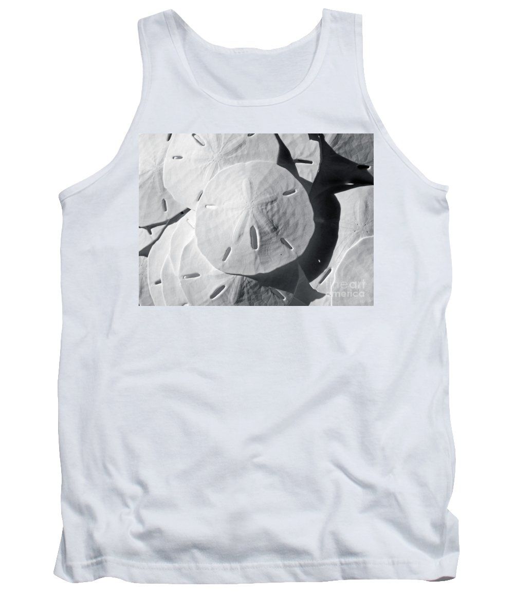 Black And White Tank Top featuring the photograph Sea Cookies by Kelley Freel-Ebner