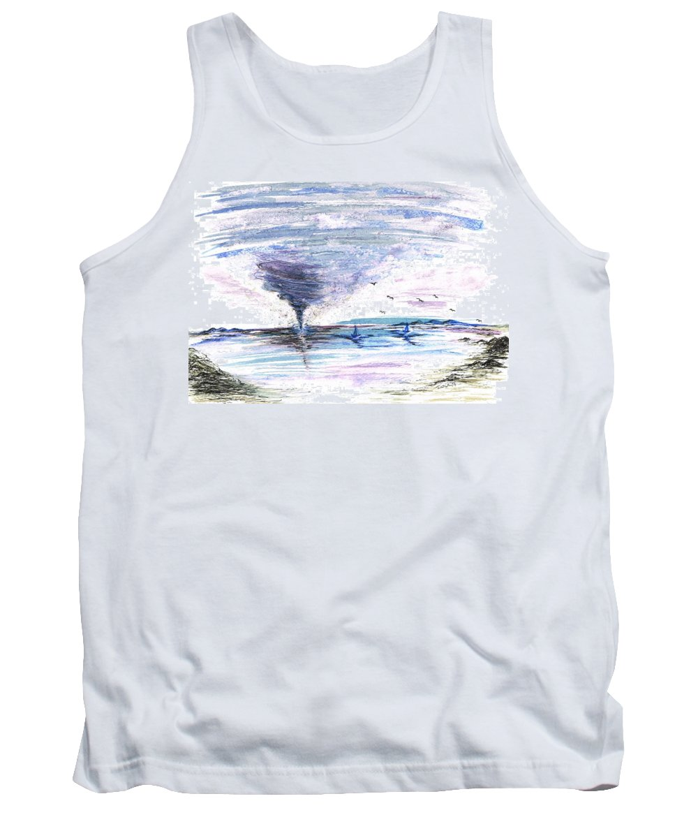 Teresa Tank Top featuring the painting Sea Twister by Teresa White
