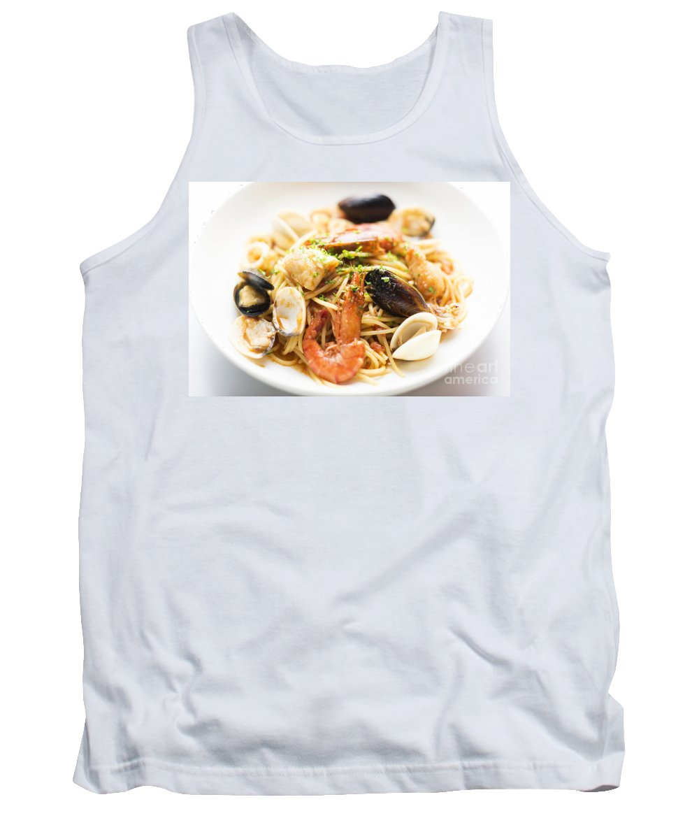 Classic Tank Top featuring the photograph Seafood Pasta Dish by Jacek Malipan