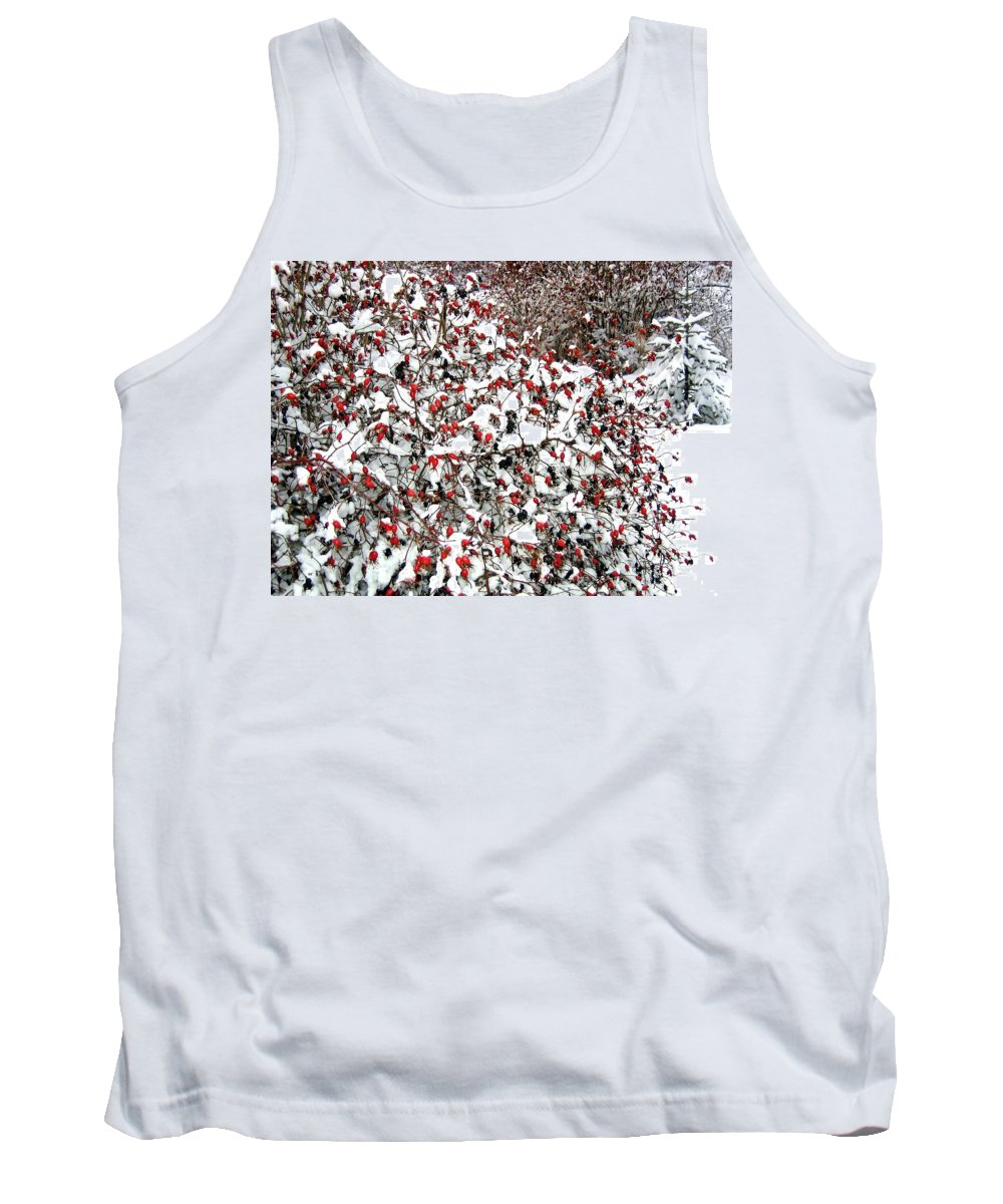 #snowywinterhaven Tank Top featuring the photograph Secluded Winter Haven by Will Borden