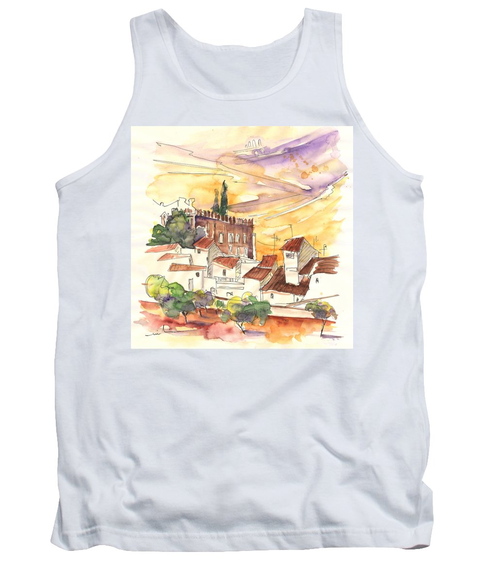 Water Colour Tank Top featuring the painting Serpa Portugal 27 by Miki De Goodaboom