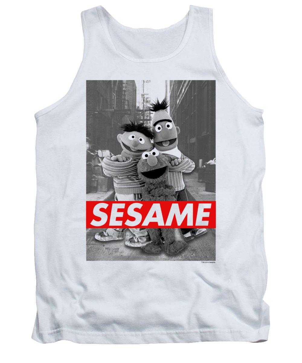 Tank Top featuring the digital art Sesame Street - Sesame by Brand A