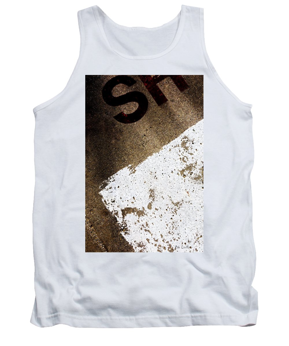 Abstract Tank Top featuring the photograph SH by Bob Orsillo