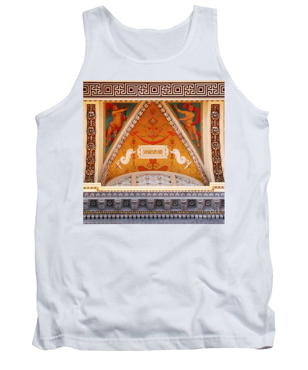 Ron Tackett Tank Top featuring the photograph Shakespeare The Bard by Ron Tackett