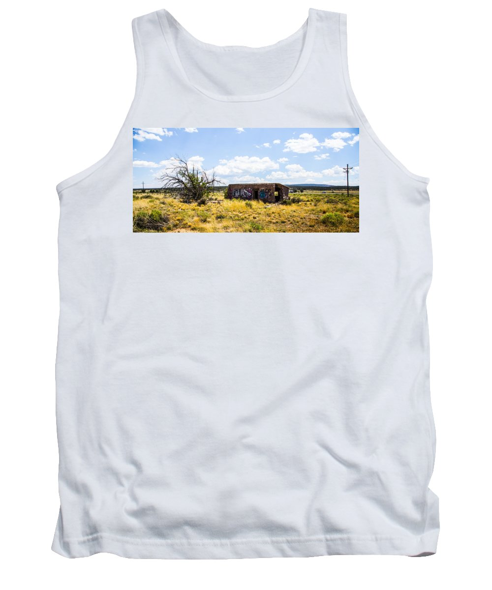 Route 66 Tank Top featuring the photograph Shambles by Angus Hooper Iii