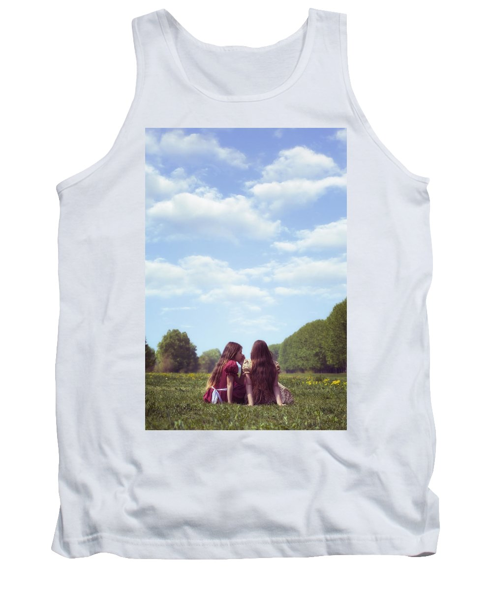 Girl Tank Top featuring the photograph Sharing A Secret by Joana Kruse