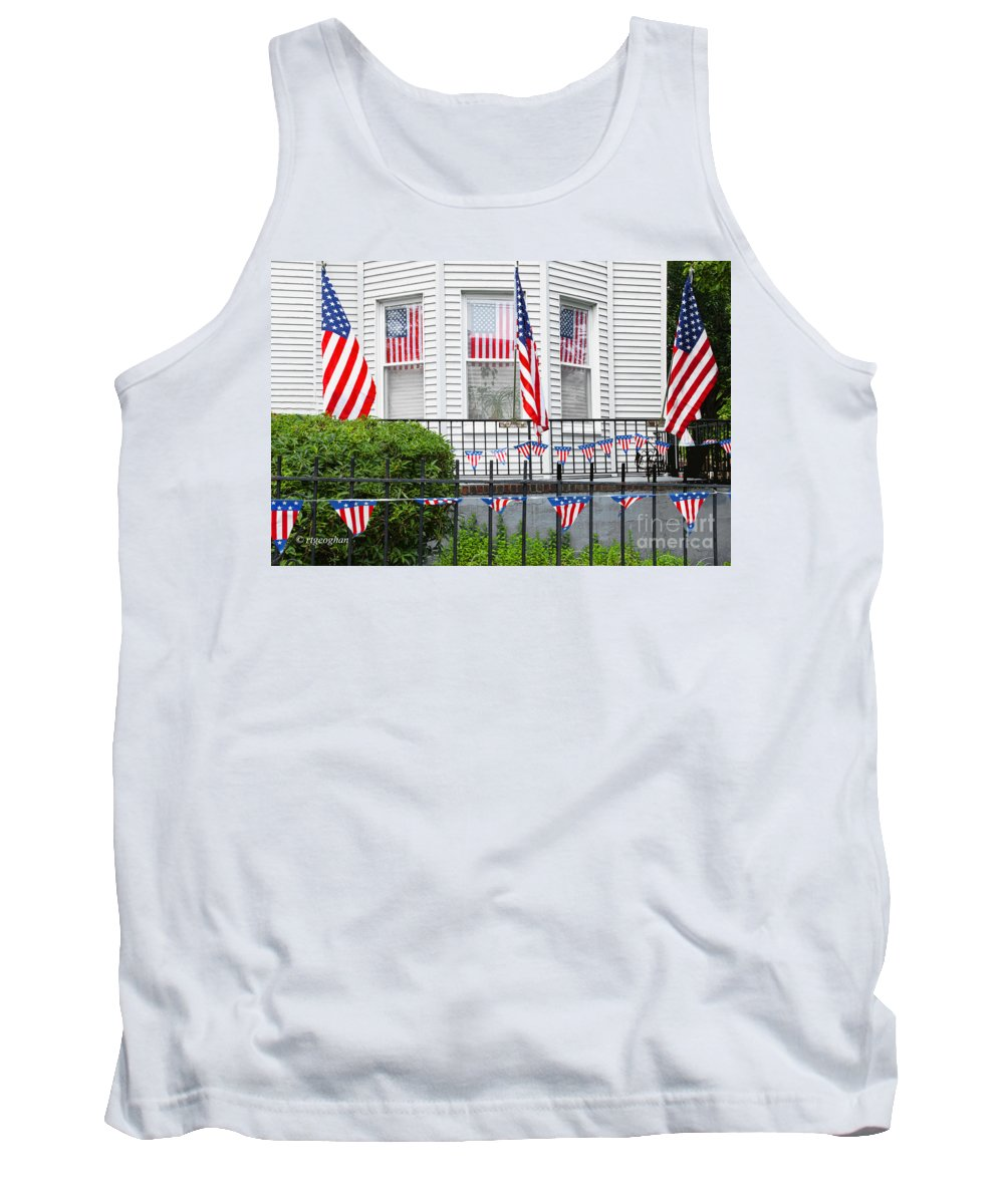 American Flag Tank Top featuring the photograph Showing The Flag Usa by Regina Geoghan