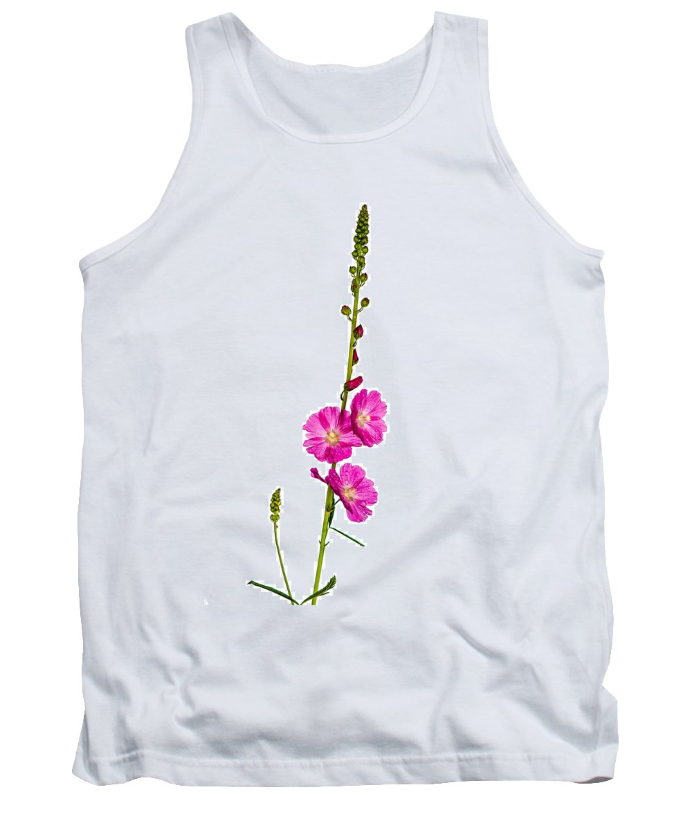 Annual Tank Top featuring the photograph Sidalcea 2 by Mark Llewellyn