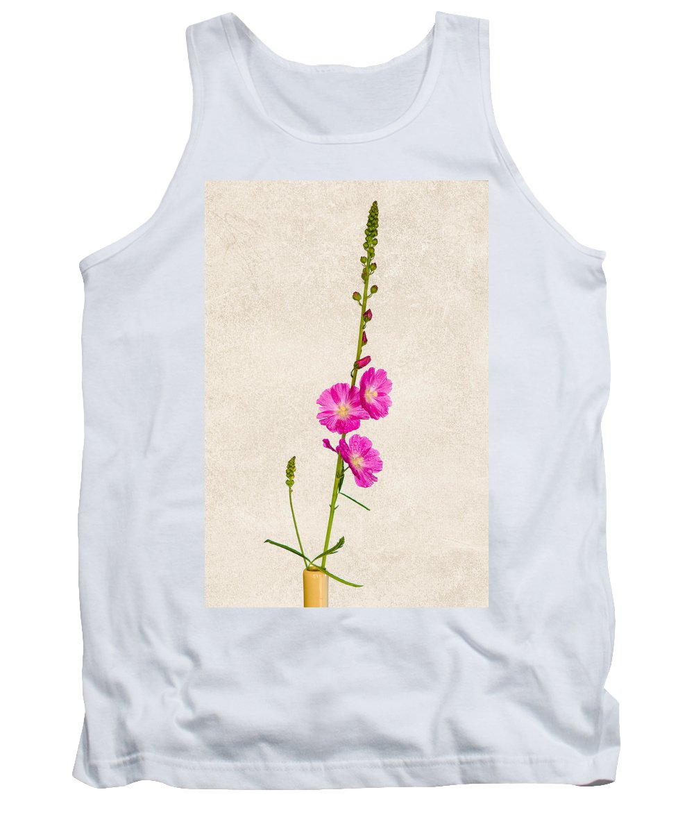 Annual Tank Top featuring the photograph Sidalcea 3 by Mark Llewellyn