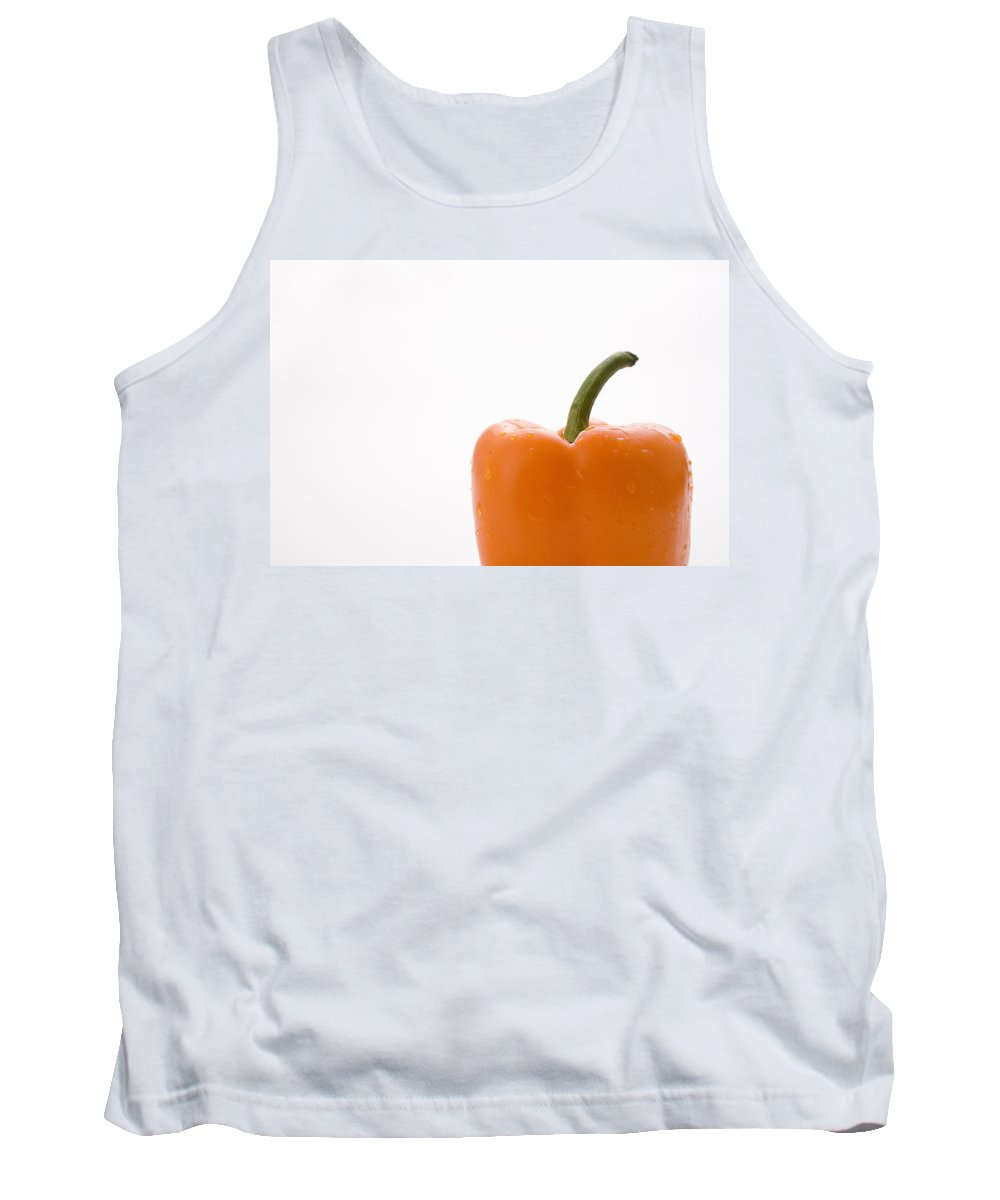 Canada Tank Top featuring the photograph Side View Orange Pepper by Greg Huszar Photography