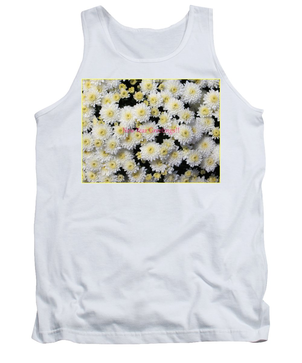 Chrysanthemum Tank Top featuring the photograph Silver Greetings by Sonali Gangane
