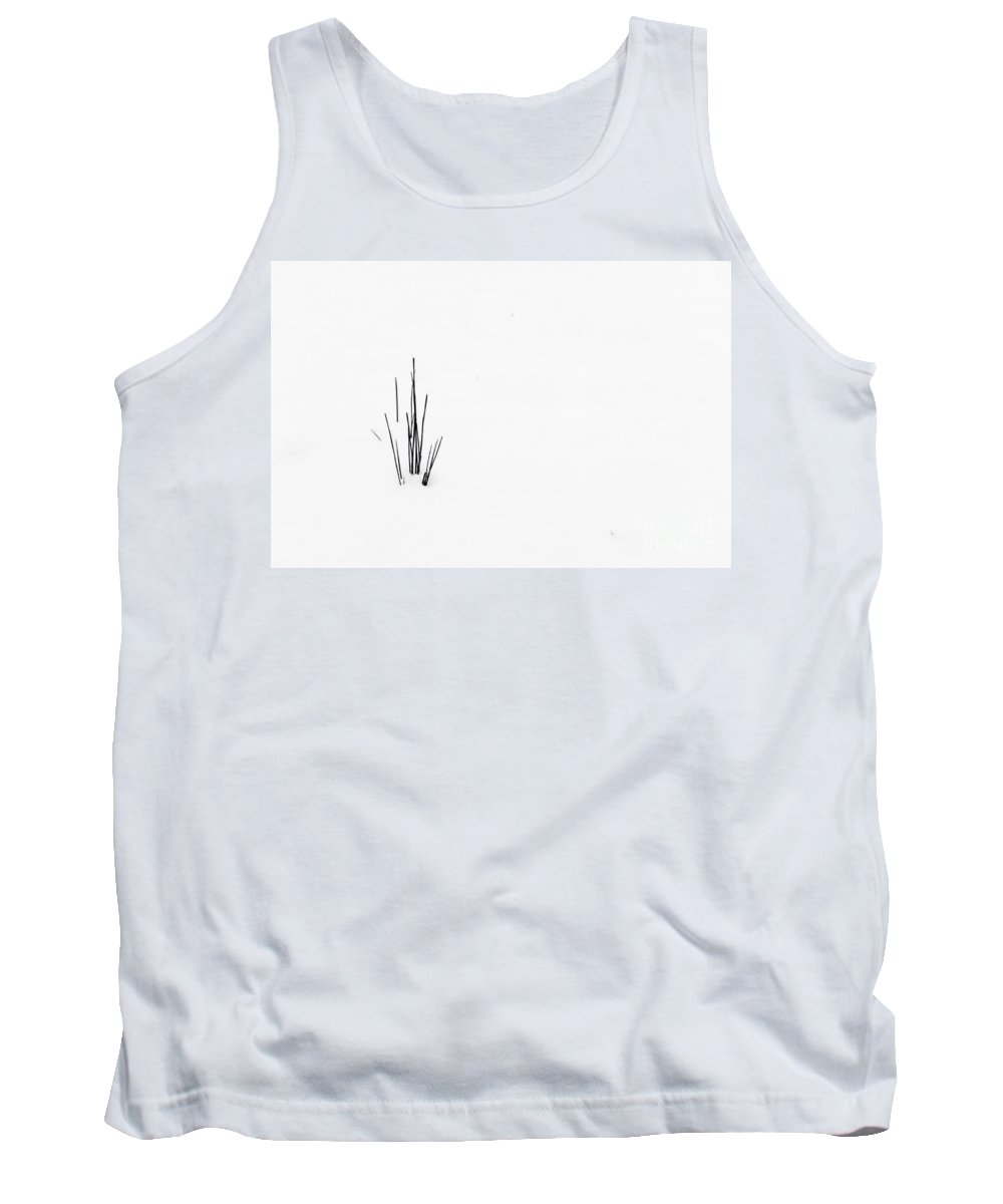 Garden Tank Top featuring the photograph Simple Snow Scene 9 by Paul Adams