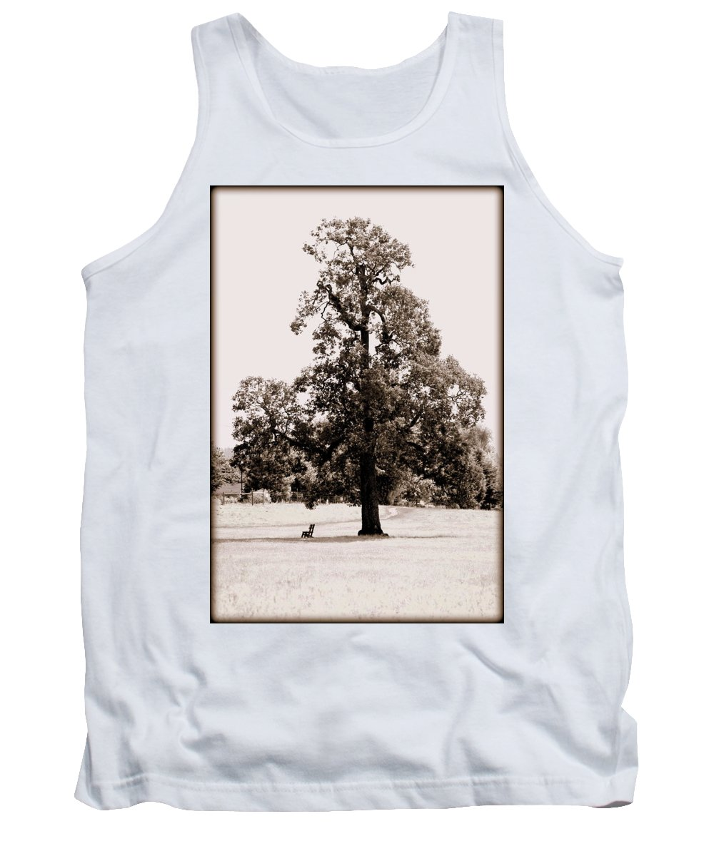Tree Tank Top featuring the photograph Single Tree Journey by Kathy Sampson