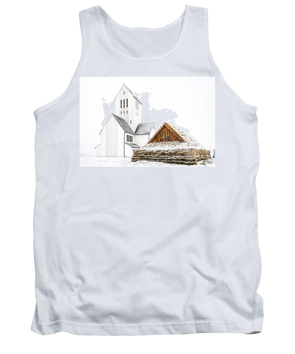 Ancient Tank Top featuring the photograph Skalholt Church by Maria Coulson