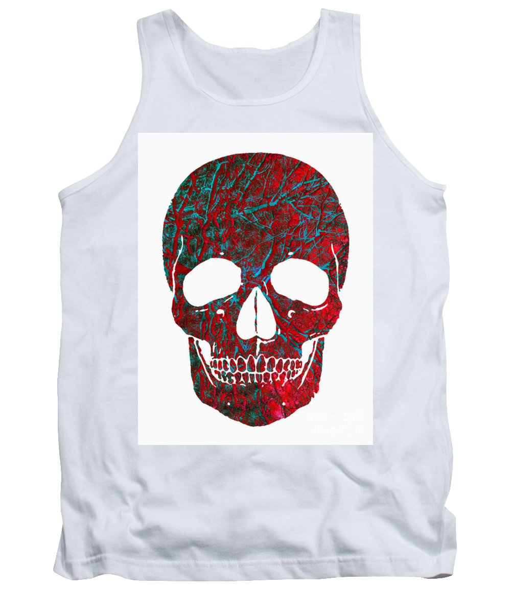 Skull Tank Top featuring the photograph Skull Work by Gillian Singleton
