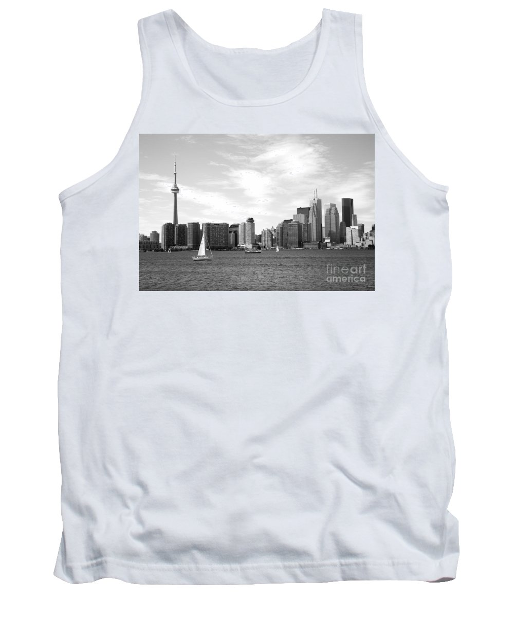 Black And White Tank Top featuring the photograph Skyline Of Toronto On by Bill Cobb