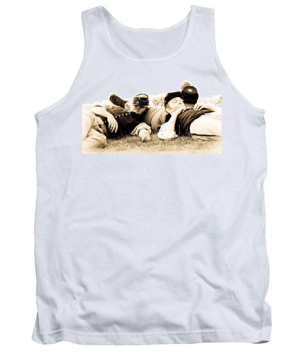 Civil War Tank Top featuring the photograph Sleeping Soldiers by Athena Mckinzie