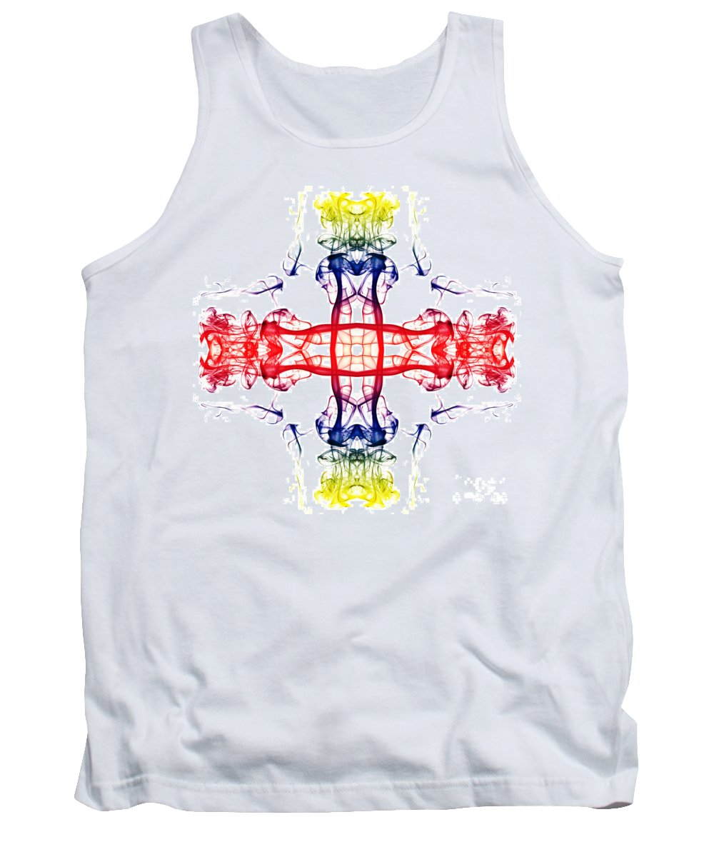 Smoking Trails Tank Top featuring the photograph Smoke Cross 4 by Steve Purnell