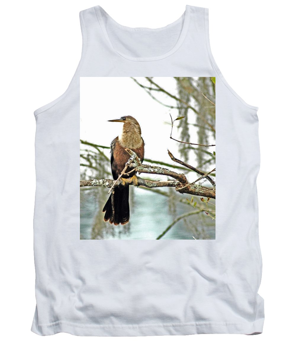 Anhinga Tank Top featuring the photograph Snake Bird by Norman Johnson
