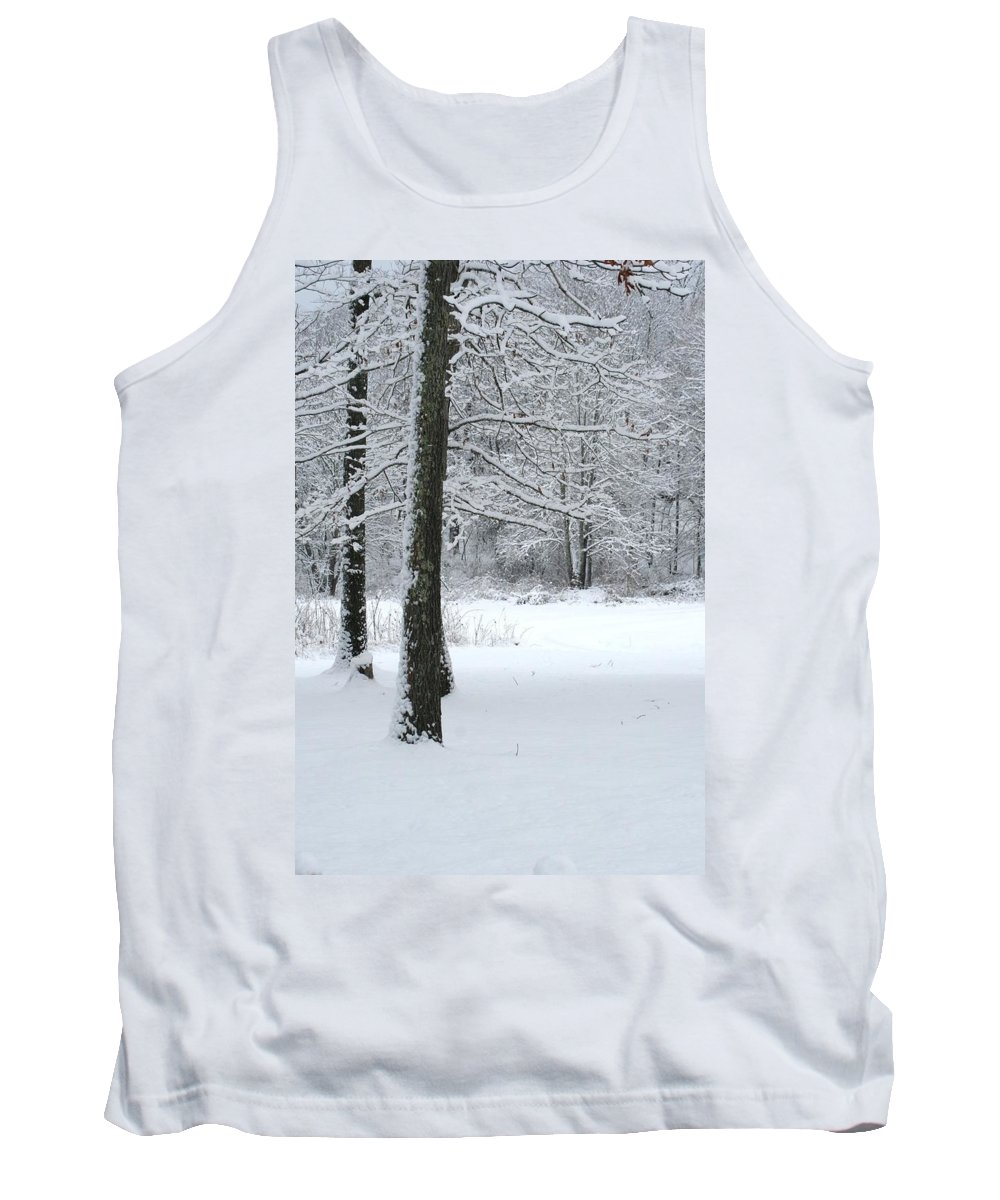 Snow Covered Trees Tank Top featuring the photograph Snowy Trees by Cody Cookston