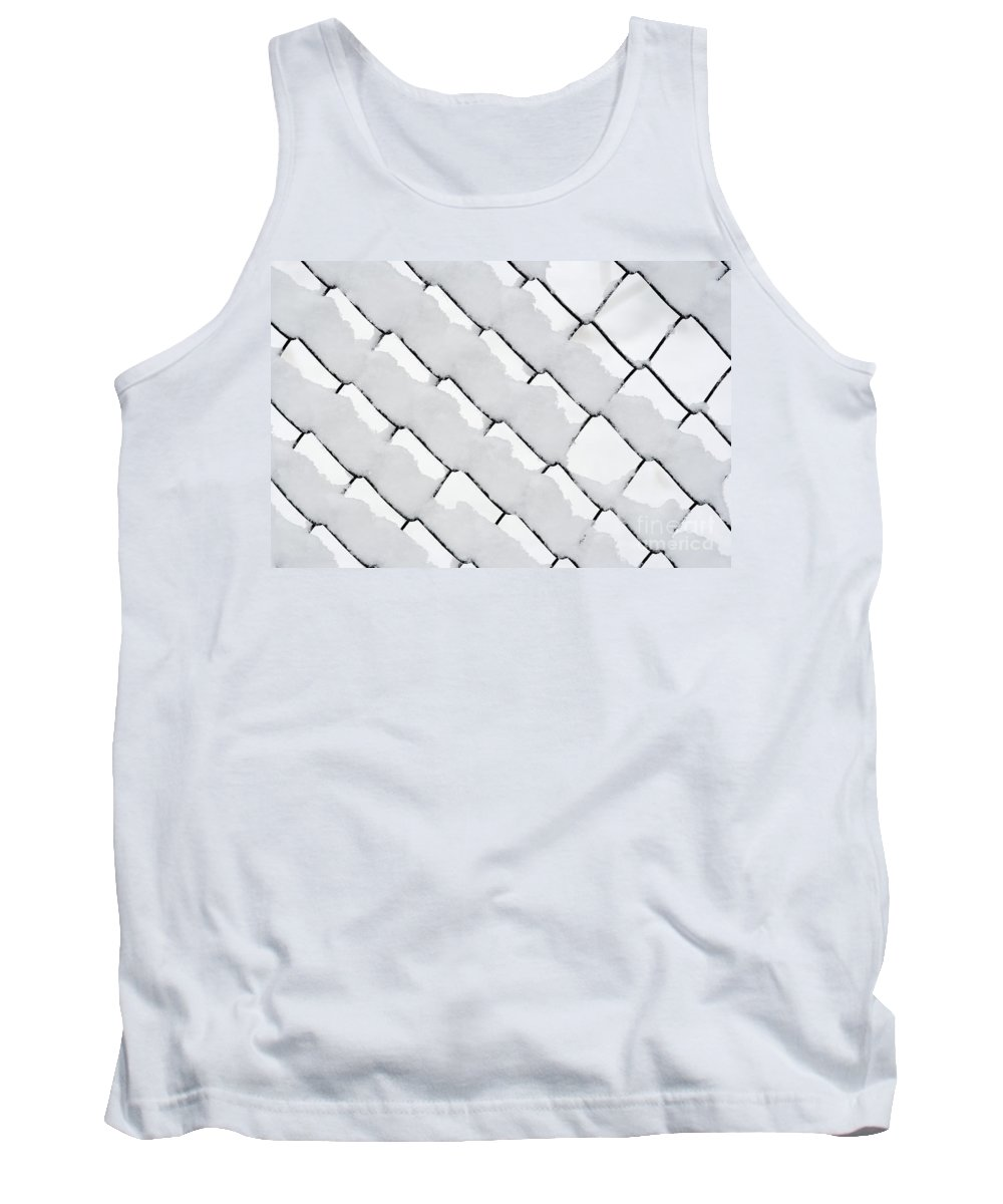 Winter Tank Top featuring the photograph Snowy Wire Netting by Michal Boubin