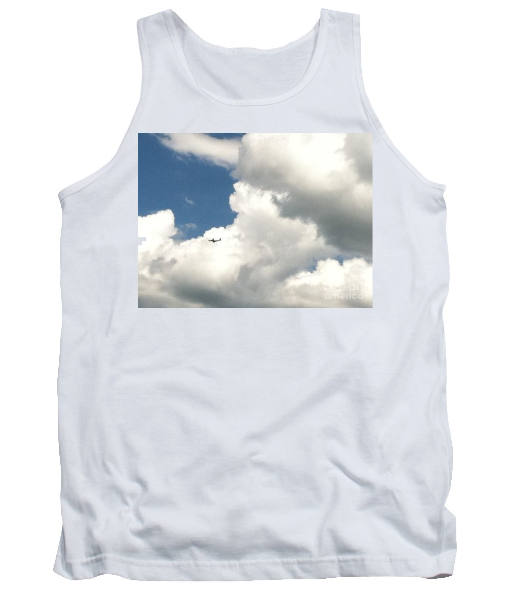 Clouds Tank Top featuring the photograph Soaring Through The Clouds by Christy Gendalia