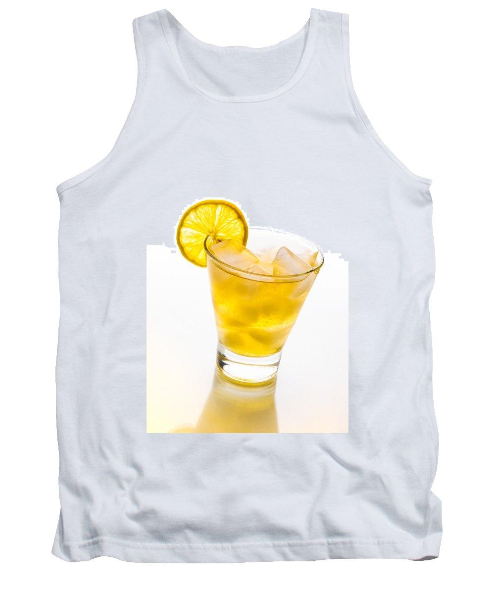 Frozen Tank Top featuring the photograph Soft Lemon Cocktail by Alain De Maximy